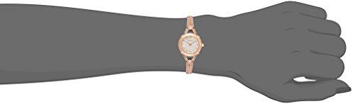 GUESS Petite Vintage Inspired Rose Gold-Tone Crystal Bracelet Watch with Self-Adjustable Links. Color: Gold-Tone (Model: U0135L2)