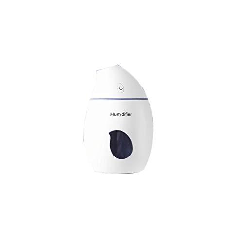160ml Mango Luftbefeuchter 30dB Mute Humidifie Portable Office Schlaf Schwere Nebel Raumbefeuchter (Color : White, Größe : 5.07 * 3.26in)