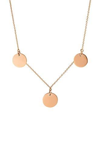 FAYE ® Multi Coin Halskette für Damen - In Gold, Roségold oder Silber - Aus hochwertigem Edelstahl - Kette für Damen - Schmuck