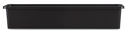 Pennington Décor 100507831 New England Pottery Window Box, 31.65'/Large, Black