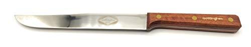 Coltello Arrosto e Carni Cotte, adatto anche per Salumi - lama acciaio inossidabile, manico legno. Produzione Artigianale Italiana