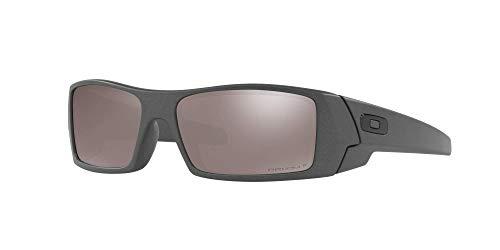 Oakley GASCAN OO9014 Sunglasses For Men + Accessories Bundle (Steel/Prizm Black Polarized (901435), 60)