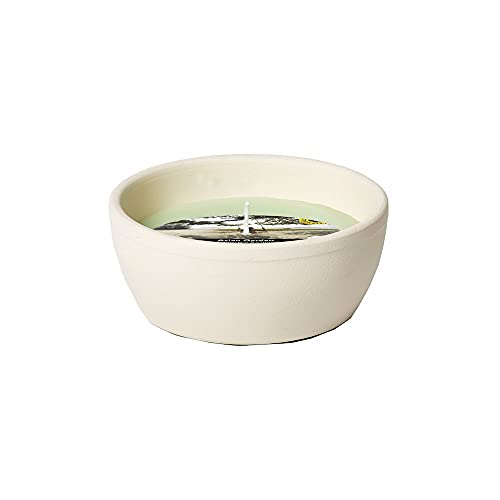 Flammschalen Zitronengras & Citronella für draußen 6 Stück - Outdoor-Kerzen Terracotta - Für deinen Garten - Feuerschalen im 6er Set - weniger Stiche durch Mücken - 13h Brenndauer - 10,9x10,9x4,6 cm