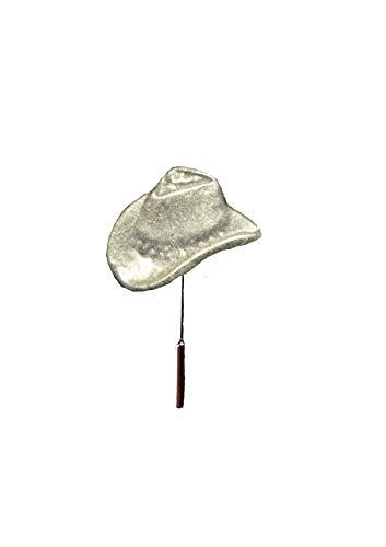 FT342 Cowboy Hoed Stetson 2.1x1.4cm Engels Tinnen op een stropdas stok pin hoed sjaal kraag geplaatst door ons geschenken voor alle 2016 van DERBYSHIRE UK