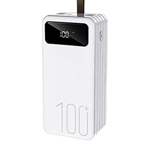 PIANAI Power Bank 100000mah/cargador USB c/Cargador portatil/Cargador de Pilas Recargables/Cargador Pilas/Cargador USB Multiple/Power Bank USB c,Blanco