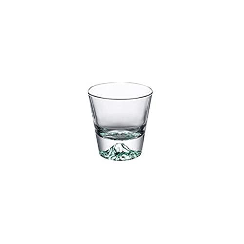 FEINENGSHUAI Bicchieri Acqua Tazze di Vetro, 8 oncia, Tazza di Vetro Cristallo, Interior Design di Forma di Montagna, Adatto per tè, Acqua, Succo di Frutta e Latte (Color : Green)