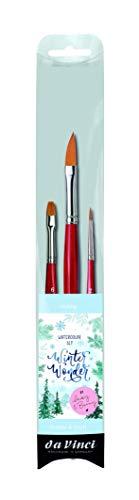 da Vinci Watercolor Watercolor Brush Set, Black 3 Each