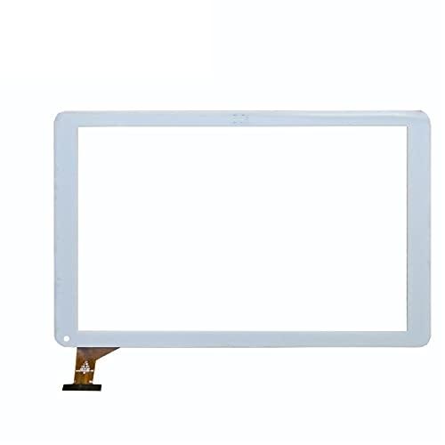 para 10.1'SPC Heaven 10.1 Tableta cuádruple Panel de Pantalla táctil digitalizador de reemplazo del Sensor de Vidrio (Color : White)