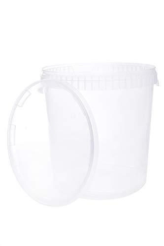 Seau avec couvercle | 5 x 30 Litres | Transparente Plastique Alimentaire Qualité de meilleure…
