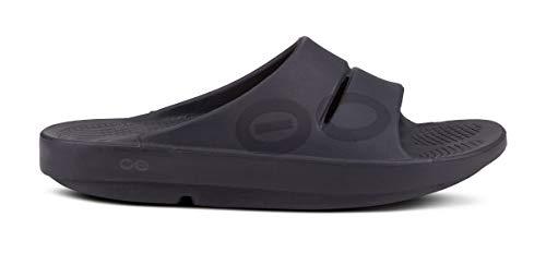 OOFOS Unisex-Erwachsene Ooahh Slide Sandale, Schwarz - matte black - Größe: 41/42 EU
