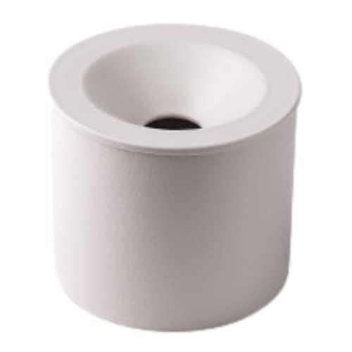COOLTHICK 灰皿 蓋付き ふた付き 屋外 卓上 インテリア セラミック 大容量 陶器 (白)