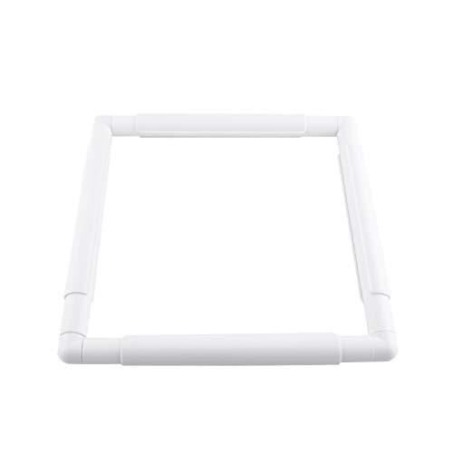 Tyenaza Kreuzstich-Rahmen Quiltrahmen Quadratischer Rechteck-Kunststoff-Clip-Rahmen für Stick-Quilt-Quilt-Werkzeug(27.9 * 27.9cm)