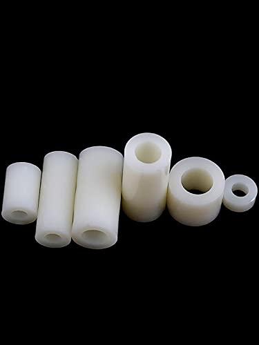 M3M4M6M8 Columna de aislamiento Almohadilla de plástico Columna recta Junta de manga de nailon/Espaciador de cuerpo de pilar de orificio redondo