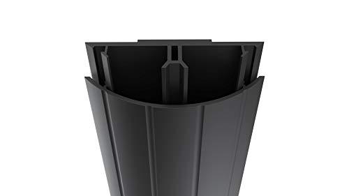 Habengut TV-Kabelabdeckung aus PVC Schwarz,  für das Kaschieren der Kabel unterhalb des Flachbildschirms, 5 cm breit, Länge 1 m