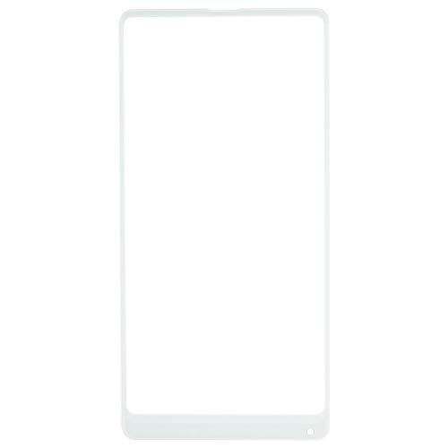XHC reemplazo de la reparación Lente de Vidrio Exterior de Pantalla Delantera for For Xiaomi Mi Mix 2 teléfono Inteligente (Color : Blanco)