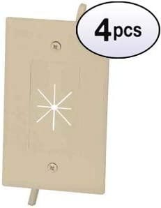 GOWOS 4 Pack 1-Gang Feed-Through Courier shipping High material free Flexible Open with Wall Plate