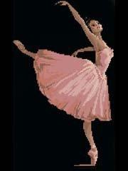 sweet home dancer/ballet DMC thread 14ct,108x179 stitch 30x43 cm couted cross stitch kits