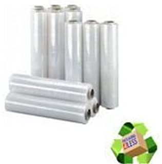 20Mu-400mm-200M Rolls of Pallet Stretch Shrink Wrap EXTENDED CORE 12 x CLEAR