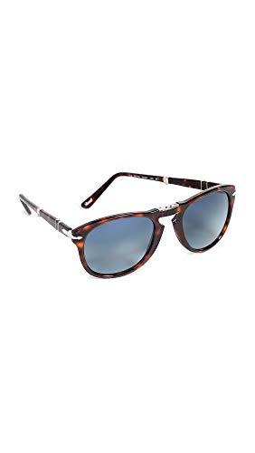 Persol Herren 0714 Sonnenbrille, Braun (Havana/Crystalblueegradientpolar), 54