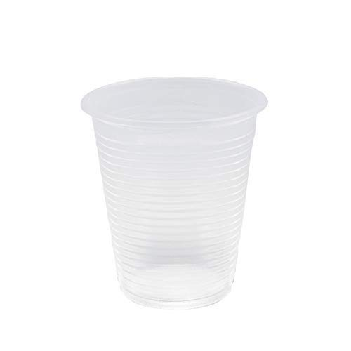 Palucart 300 Bicchieri Biodegradabili 200 ml Trasparenti compostabili PLA Bicchieri Acqua bibite rispetta la Natura