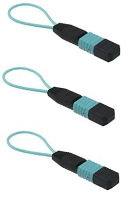 RiteAV - Cable de prueba MPO/MTP Loopback - Multimodo (OM2 OM3 OM4) 10 GB, 40...