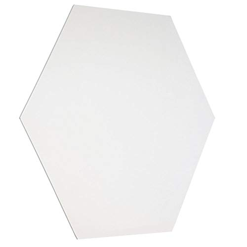 Whiteboard zonder rand 100 cm Zeshoekige vorm