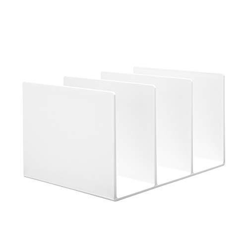 無印良品 スチロール仕切りスタンド・ホワイトグレー 3仕切・大・約270×210×160mm 02856410