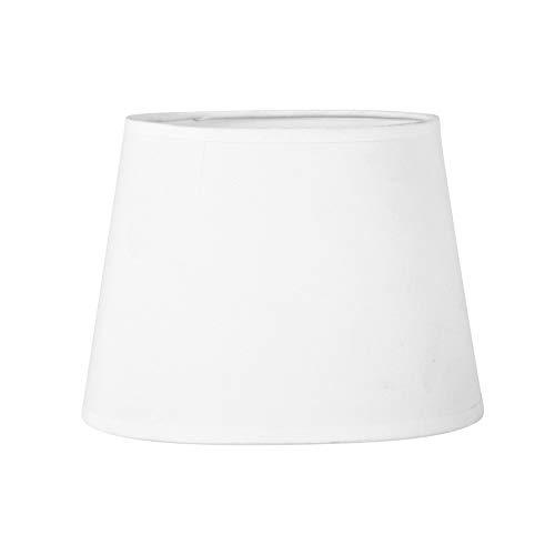 Sema 97117 Paralume ovale in tessuto bianco, Dimensioni base 20.5 cm, altezza 15 cm