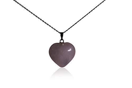 Atemberaubende Mondstein Herz Halskette–auf massivem Silber Kette–NEU und elegant.