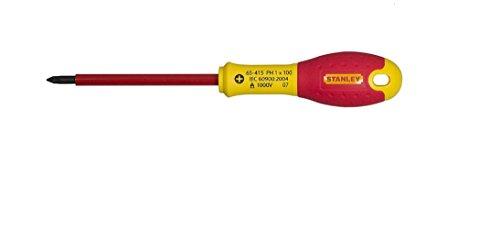 Preisvergleich Produktbild Stanley FatMax Schraubendreher Phillips (isoliert,  Phillipsspitze Nr. 2,  125 mm Länge,  Chrom-Vanadium,  Soft-Grip) 0-65-416