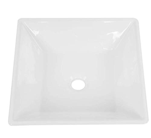 Modern Square Shape Bathroom Sink High-grade White Ceramic...