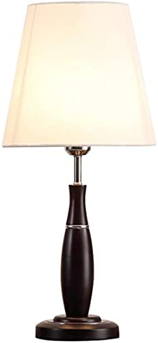 DZCGTP Lámparas de Mesa Lámpara de Mesa Simple Lámpara de Noche de Dormitorio Lámpara de Mesa de Moda de Madera de país Americano Lámpara de Noche Lámpara de Lectura Lámpara de Escritorio