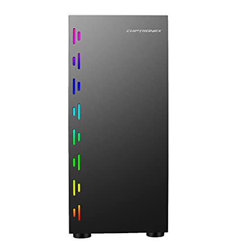 CHIPTRONEX MX3 RGB Mid Tower Cabinet USB 3.0 Tempered Glass RGB Strip Rear 120mm Fan