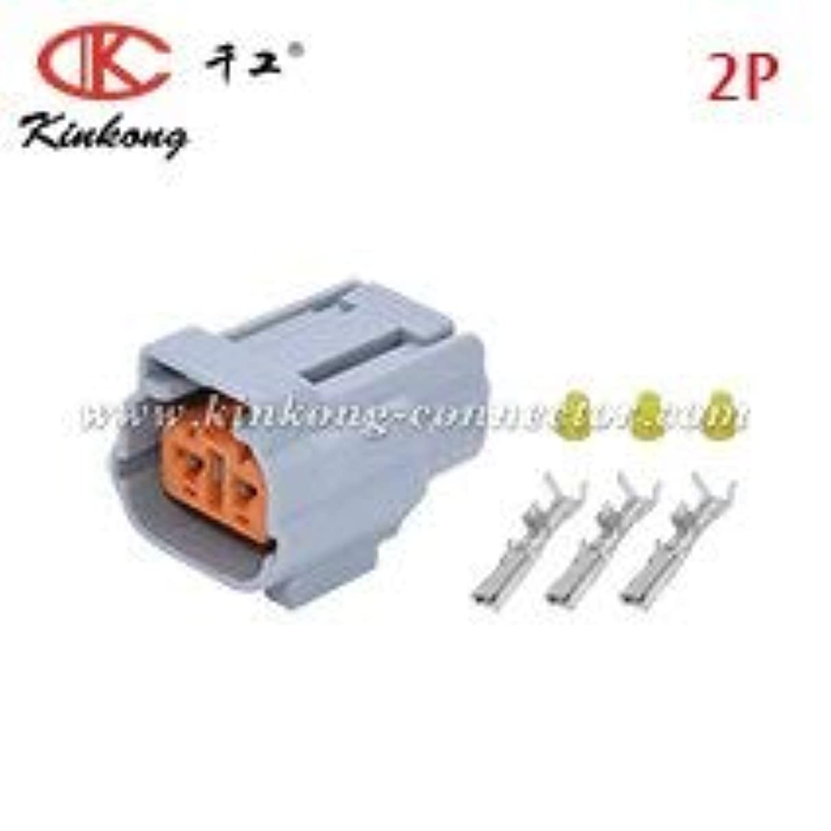 Gimax Sumitomo 6195-0006 2P090WP-DL-M-S 2P090WP-DL-M-L 6195-0003 2P090WP-DL-F-S 2P090WP-DL-F-L 2 way auto connection for Ford WPT-1210 - (Color: Female)