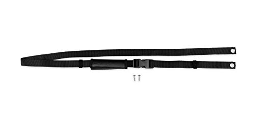 Camco RV TV Travel Strap with Padding | Safely Secures Your TV Inside Your RV or Boat During Travel | Compatible with Wall Mounted and Swivel TVs (42501) , Black
