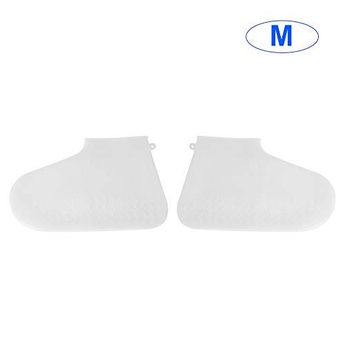Wasserdichter Schuh Regenschutzhüllen Silikonüberschuh Regenschuhbezug für Erwachsene Elastische Bezüge Rutschfester Schuhschutz (M)