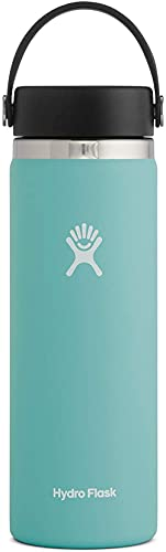 Hydro Flask Water Bottle - Stainless Steel & Vacuum Insulated - Wide Mouth 2.0 with Leak Proof Flex Cap - 32 oz, Alpine