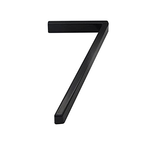 CHUANGRUN Número De Casa Flotante, Número De Dirección De Casa, Números De Casa Modernos De Metal De 5 Pulgadas, Número De Decoración De Buzón De Puerta De Jardín, Acabado Cepillado Sofisticado