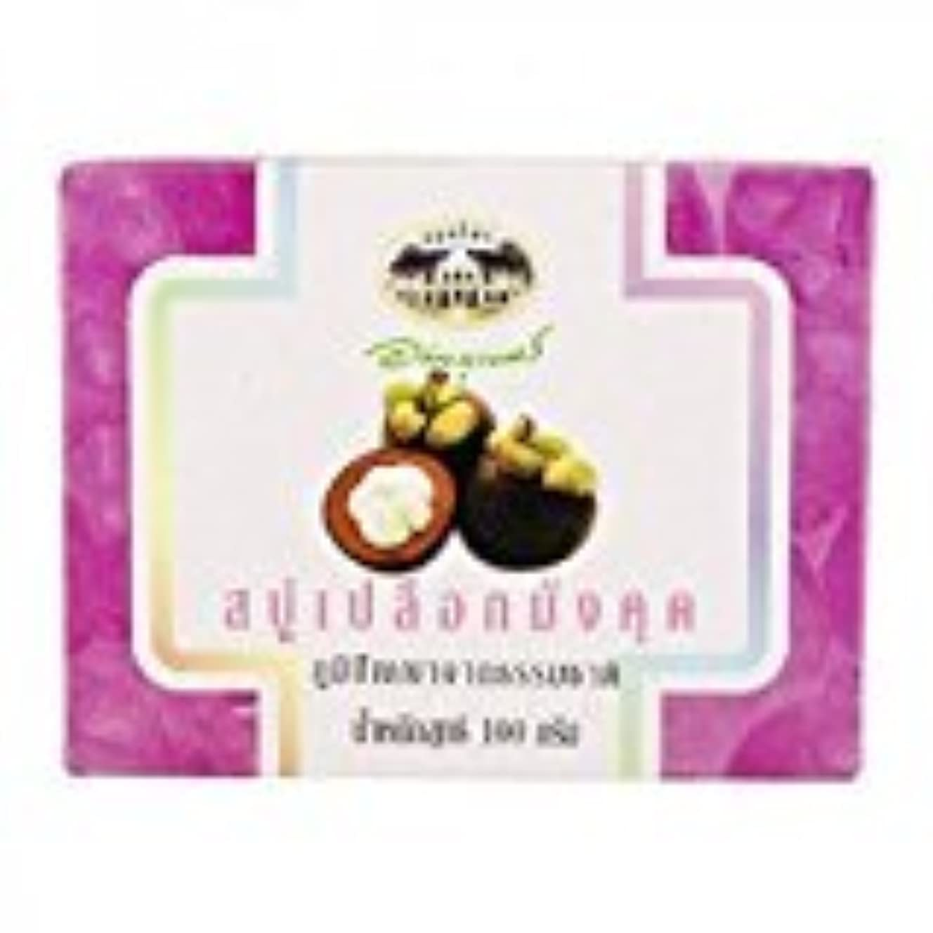専門知識ホイッスル以下マンゴスチン石鹸 abhaibhubejhr Mangosteen Peel Soap 100g 1個