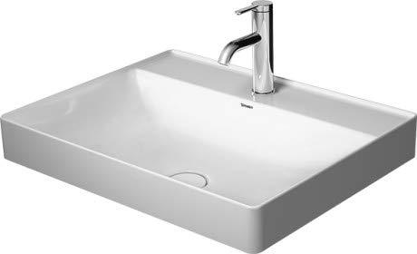Duravit Aufsatz-Waschtisch DuraSquare 600mm ohne Überlauf ohne Hahnloch, weiß, 2354600070