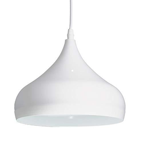 Lámpara de Techo de Aluminio, Lámpara Decorativa Colgante, acabado Mate Impecable, Colores Neutros, Moderno, Minimalista, Diseño industrial-elegante - 23.5x105cm, Blanca