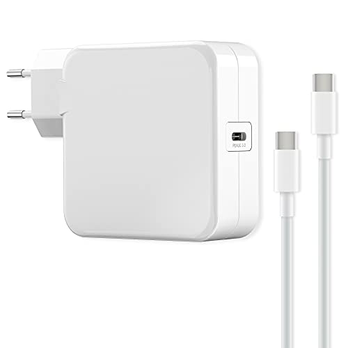 Cargador USB C 65W, Mac Book Pro Adaptador Corriente USB C, Cargador Mac Book Air Compatible con Mac Book 13