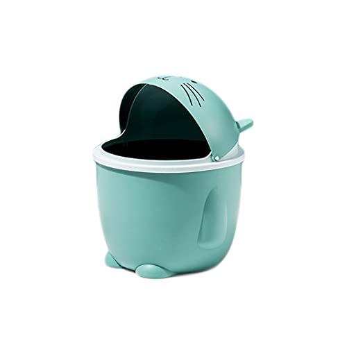Mini la basura de la basura de la basura de la papelera puede columpio la papelera de la bandeja de la tapa de la tapa del mini, el mini cubo de basura de los residuos de escritorio, adecuado para ofi