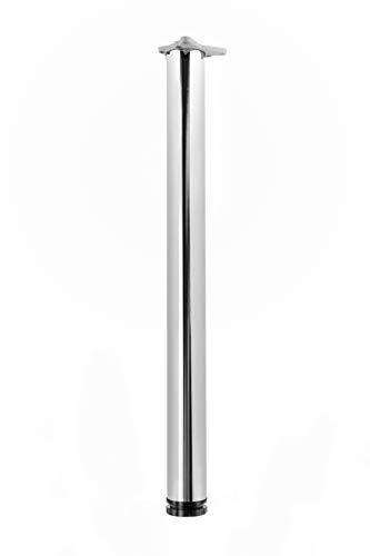 durante Tischbein Chrom poliert H 1100 mm Ø 60 mm Tischfuß Möbelfuß inkl. Befestigungsmaterial