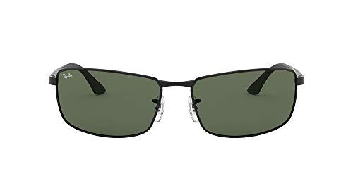 Ray-Ban Unisex RB3498 Sonnenbrille, (Gestell: Schwarz, Gläser: Grün Klassisch 002/71), X-Large (Herstellergröße: 64)