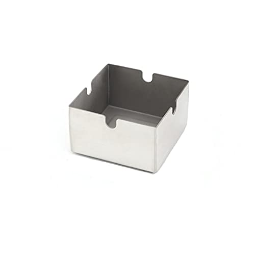 XDYNJYNL Cenicero cuadrado en forma de U a prueba de viento, polvo y humo, portátil, material de acero inoxidable, regalo adecuado para almacenamiento de escritorio, decoración del hogar, dormitorio y