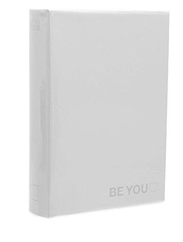 BE-U Color Diario Agenda, Formato Mini, Collezione 2017/18, Bianco