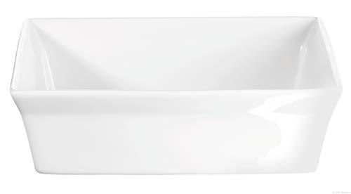 ASA 52031017 Plat à gratin en Porcelaine 18 x 18 x 5 cm, Blanc