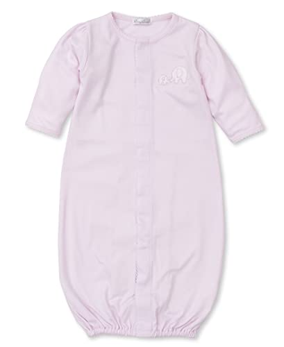 Kissy Kissy Baby-Girls Infant Pique Elephant Love Convertible Gown-Pink-Newborn