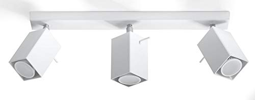Sollux Lighting Merida 3 - Plafoniera, in acciaio, colore: Bianco